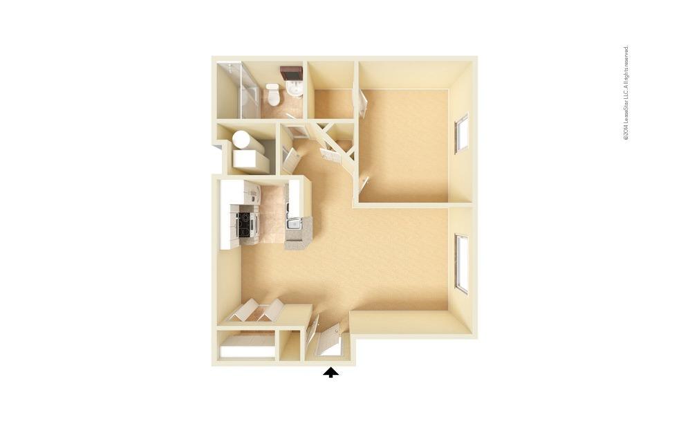 Foxfire 1 bedroom 1 bath 650 square feet (1)