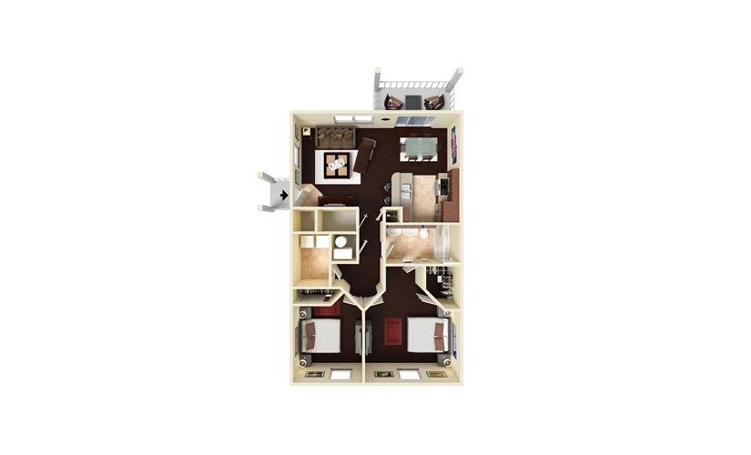 Eagle Eye 2 bedroom 1 bath 900 square feet