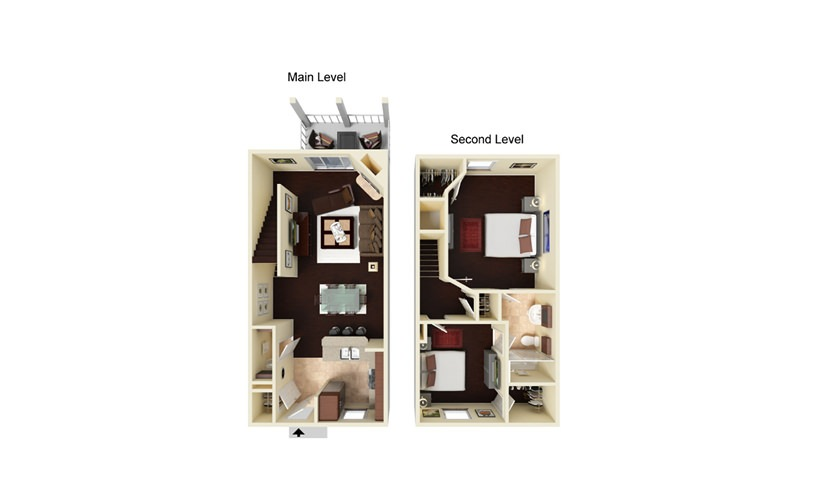 Linden 2 bedroom 1.5 bath 1000 square feet