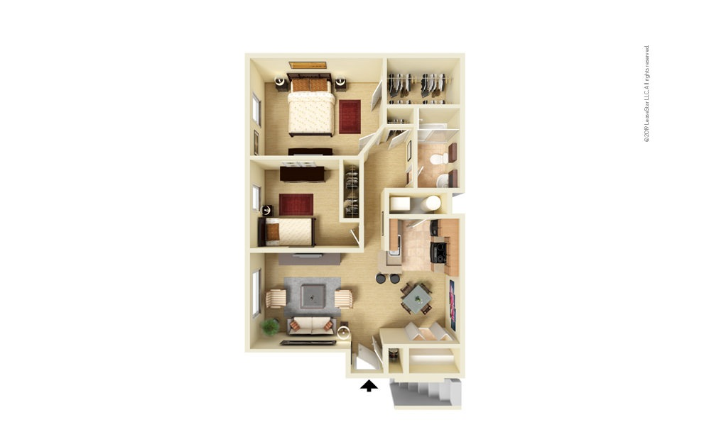 Maybury 2 bedroom 1 bath 850 square feet