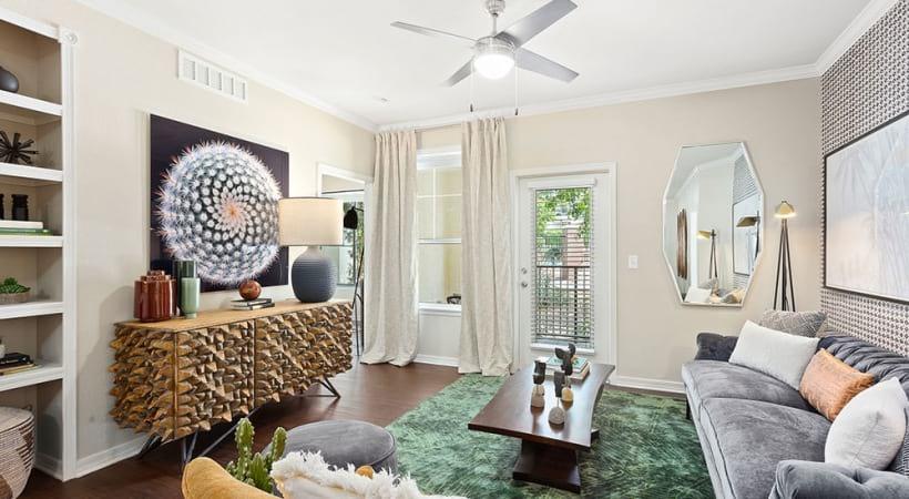 Luxury apartment living room at Cortland Mountain Vista