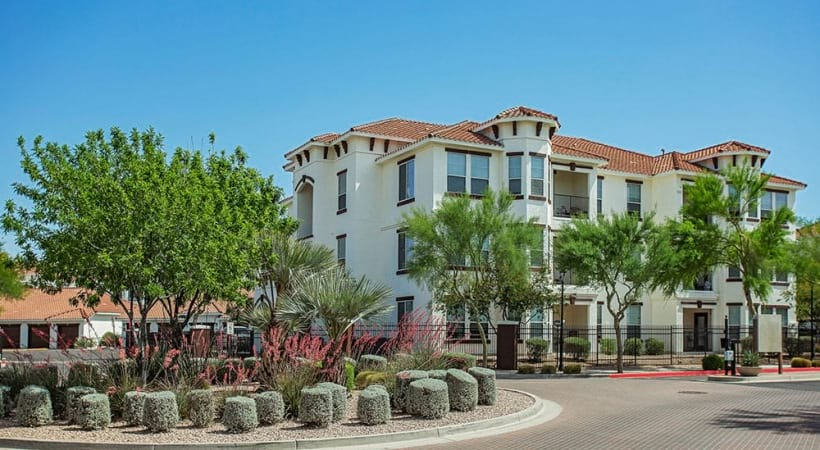 Exterior view of our apartments for rent in Mesa, AZ