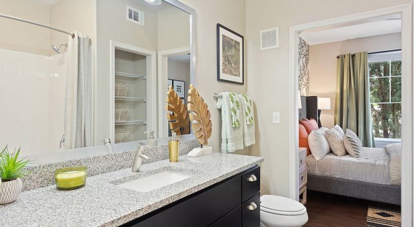 Spacious bathroom at apartments for rent in Mesa, AZ