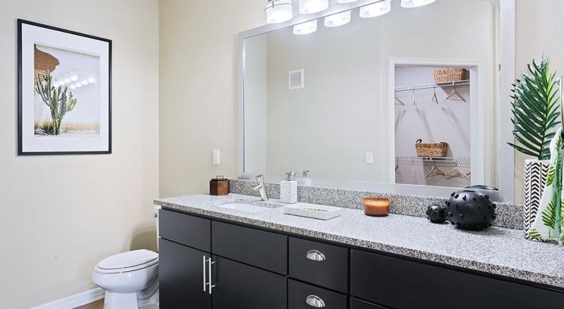 Spacious bathroom at luxury apartments in Mesa, AZ