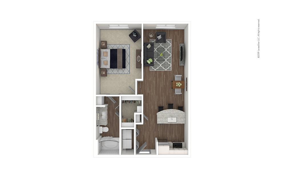 Fernleaf 1 bedroom 1 bath 731 square feet