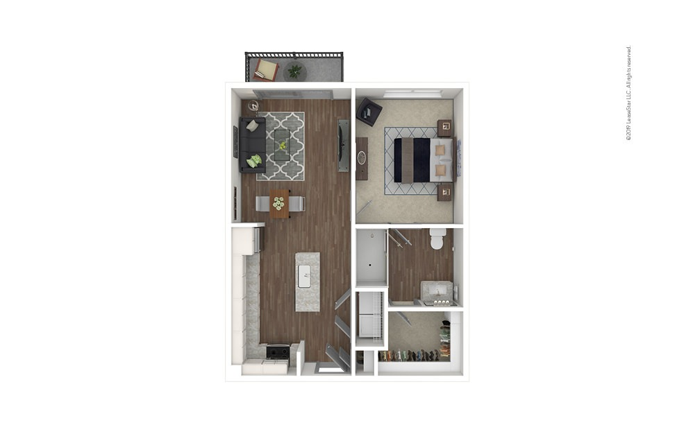 Chastain 1 bedroom 1 bath 708 square feet