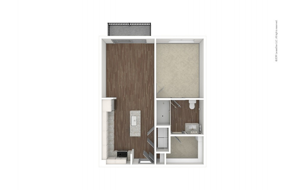 Chastain 1 bedroom 1 bath 708 square feet (1)