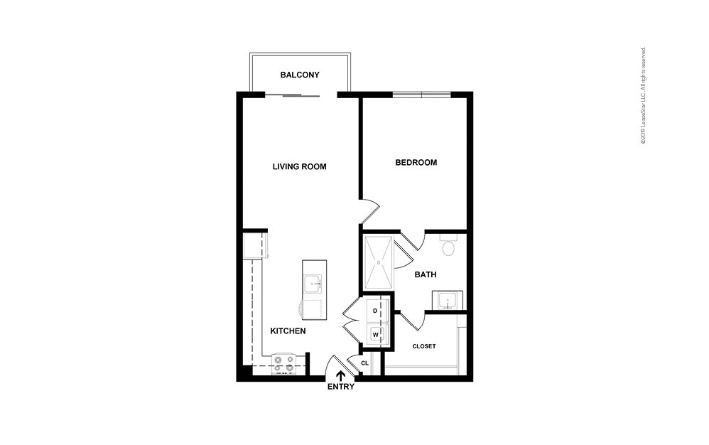Chastain 1 bedroom 1 bath 708 square feet (2)