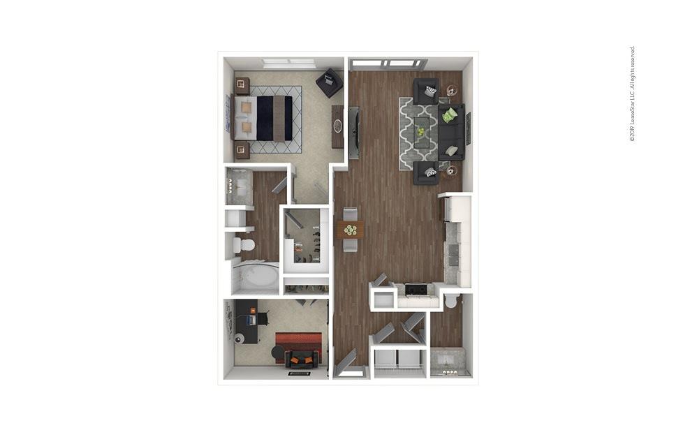 Garden Hills 1 bedroom 1.5 bath 908 square feet