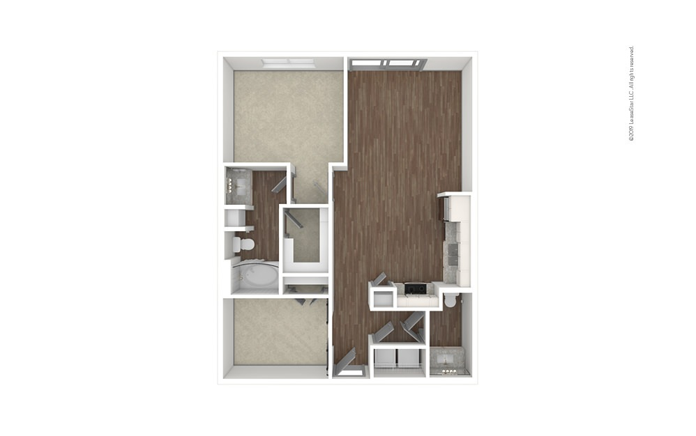 Garden Hills 1 bedroom 1.5 bath 908 square feet (1)