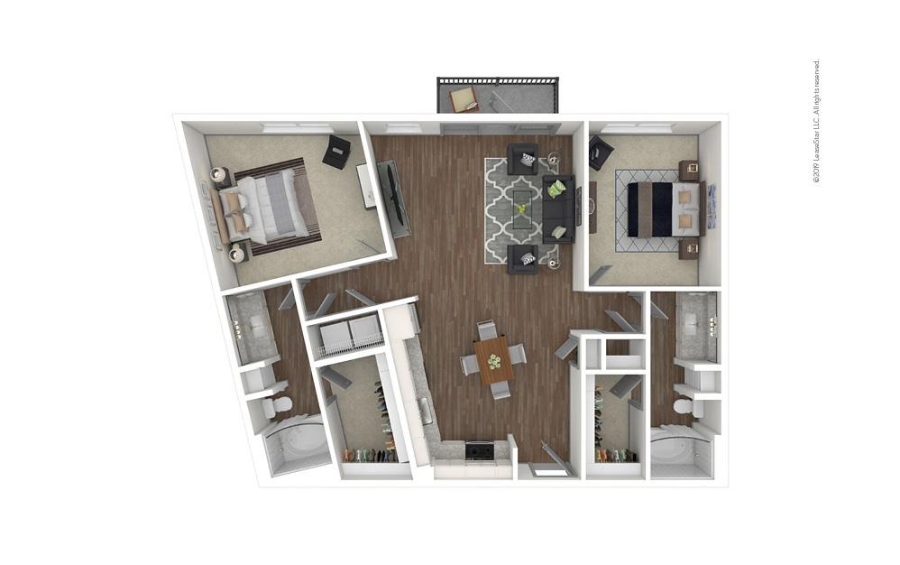 Ridgedale 2 bedroom 2 bath 1184 square feet