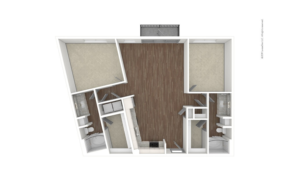 Ridgedale 2 bedroom 2 bath 1184 square feet (1)