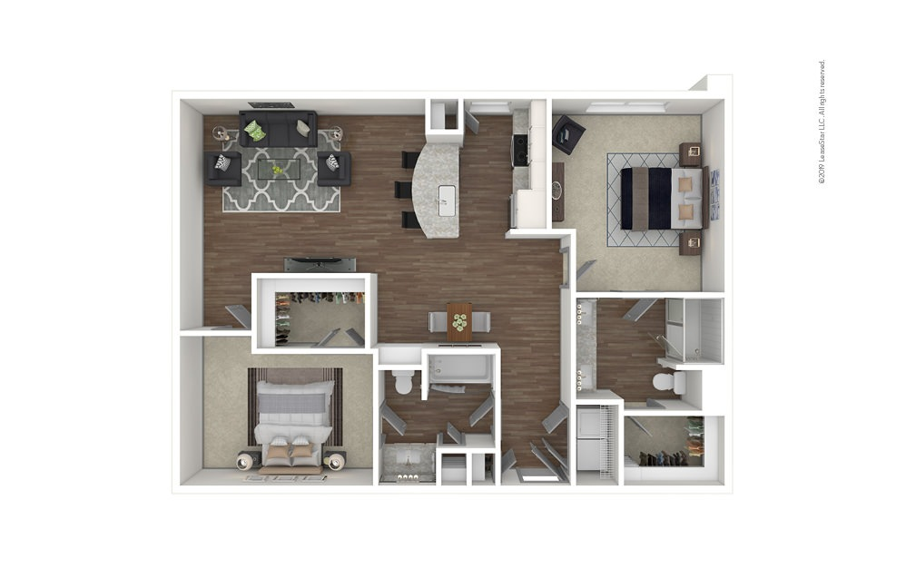 Roswell 2 bedroom 2 bath 1199 square feet