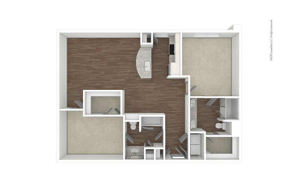 Roswell 2 bedroom 2 bath 1199 square feet (1)