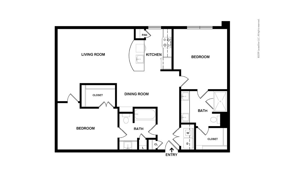Roswell 2 bedroom 2 bath 1199 square feet (2)