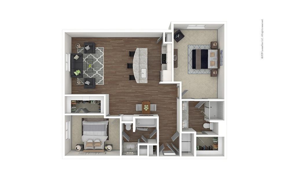 Tuxedo Park 2 bedroom 2 bath 1228 square feet