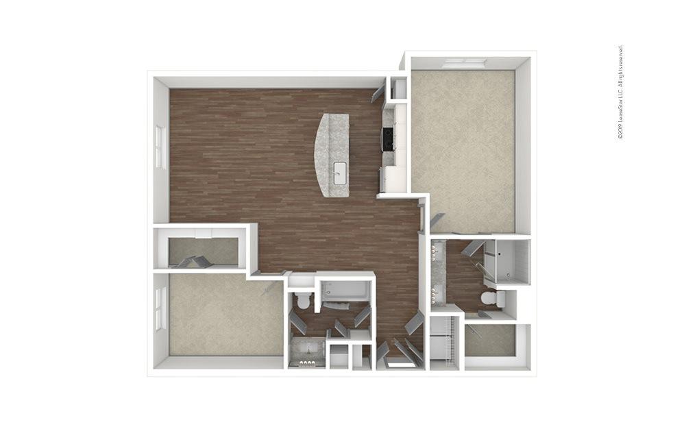 Tuxedo Park 2 bedroom 2 bath 1228 square feet (1)
