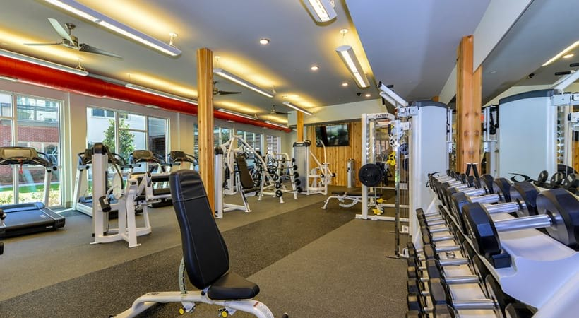 Apartment gym at Cortland at Phipps Plaza