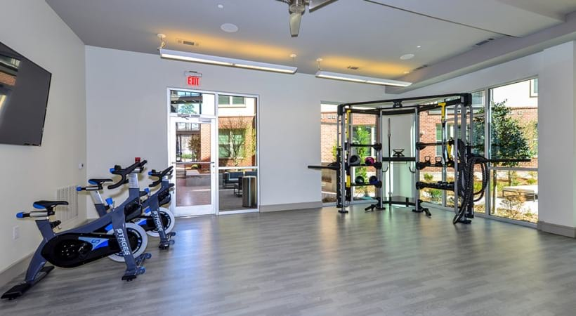 Spin studio at our luxury Buckhead apartments for rent