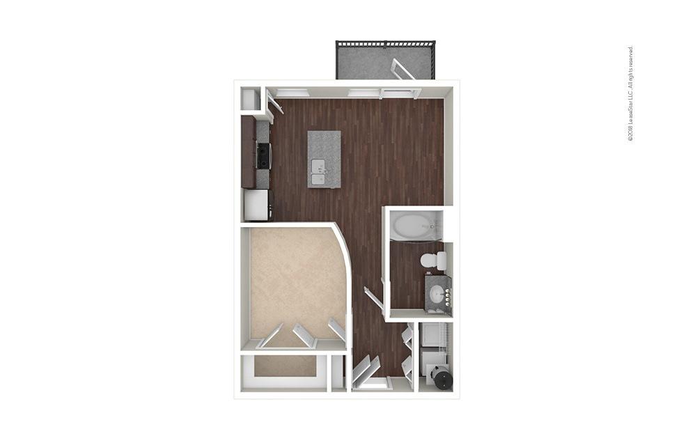 A1 1 bedroom 1 bath 610 square feet (1)