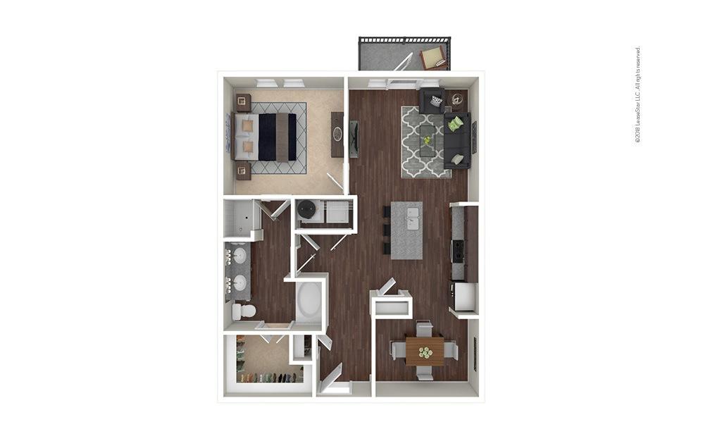 A8 1 bedroom 1 bath 910 square feet