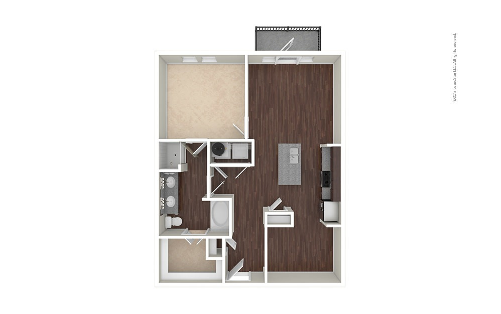 A8 1 bedroom 1 bath 910 square feet (1)