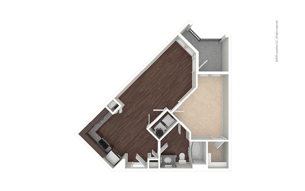 A2 1 bedroom 1 bath 688 square feet (1)