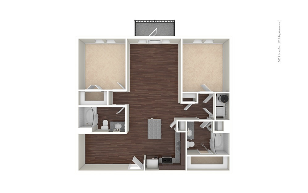 B3 2 bedroom 2 bath 1128 square feet (1)