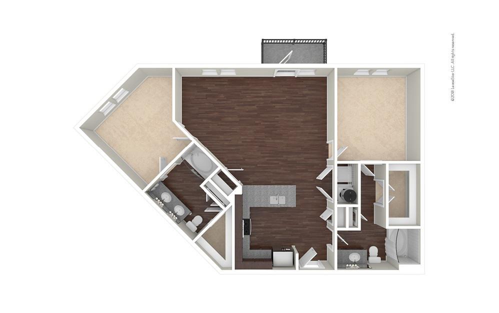 B5 2 bedroom 2 bath 1213 square feet (1)
