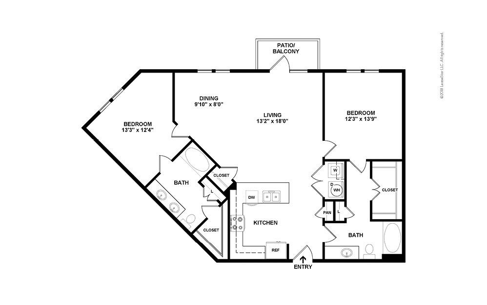 B5 2 bedroom 2 bath 1213 square feet (2)
