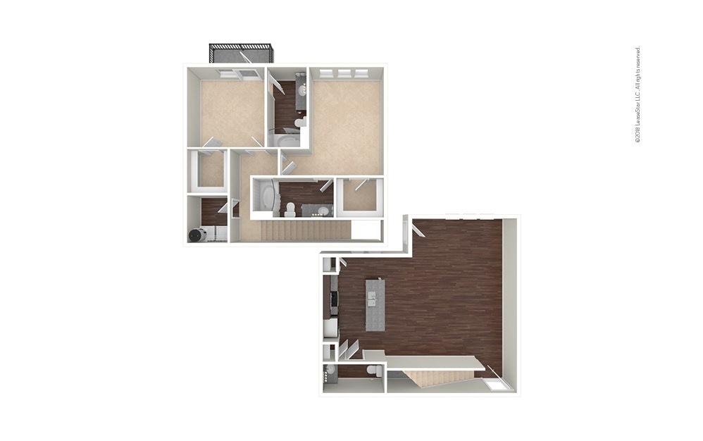 B9 2 bedroom 2.5 bath 1517 square feet (1)