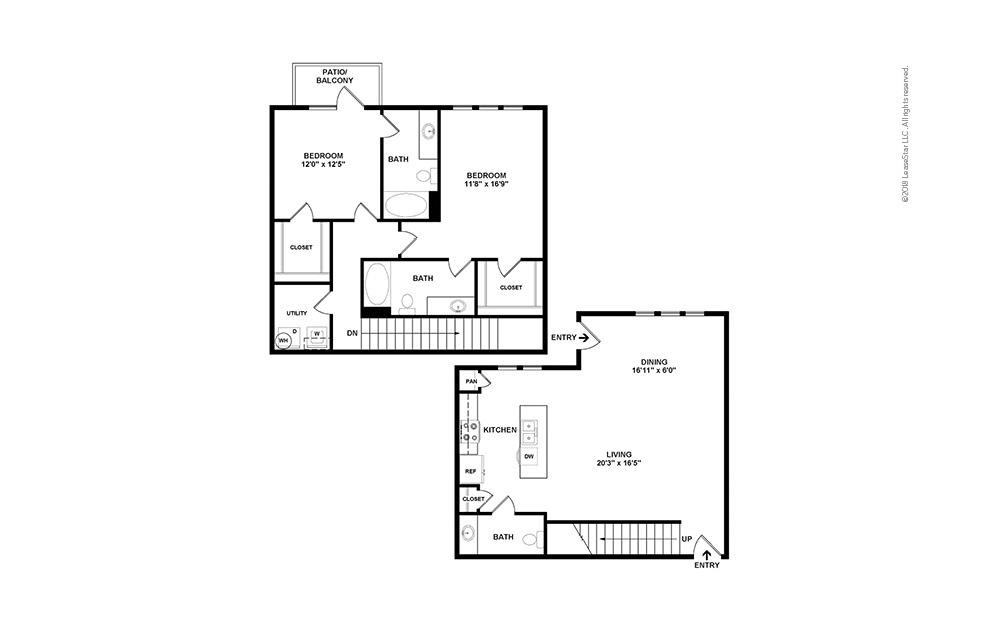 B9 2 bedroom 2.5 bath 1517 square feet (2)