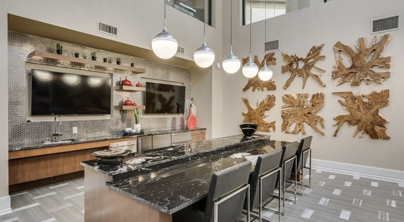 Resident kitchen at our Las Colinas, TX apartment complex