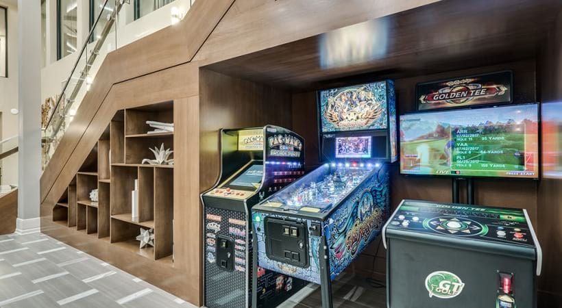 Gaming center at our new apartments in Las Colinas