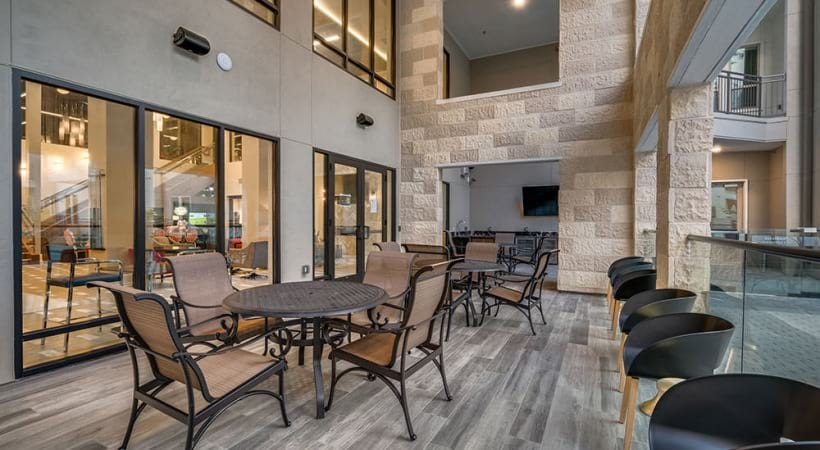 Luxury apartment clubhouse at Cortland Las Colinas
