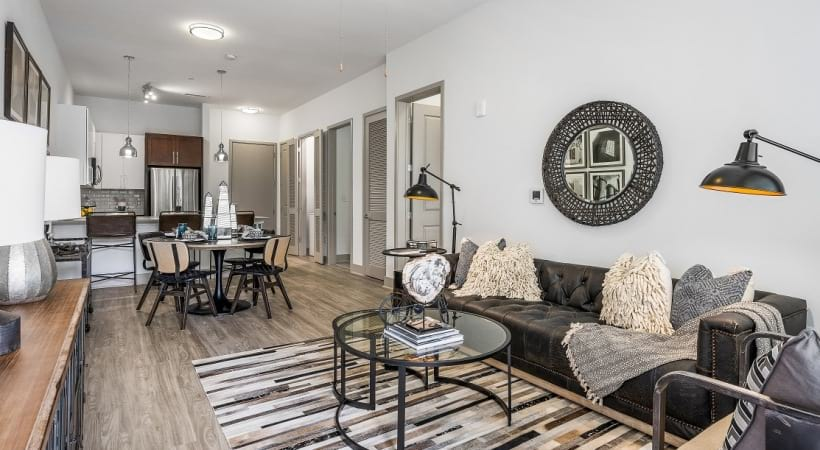 Spacious living areas at our apartments in Birmingham