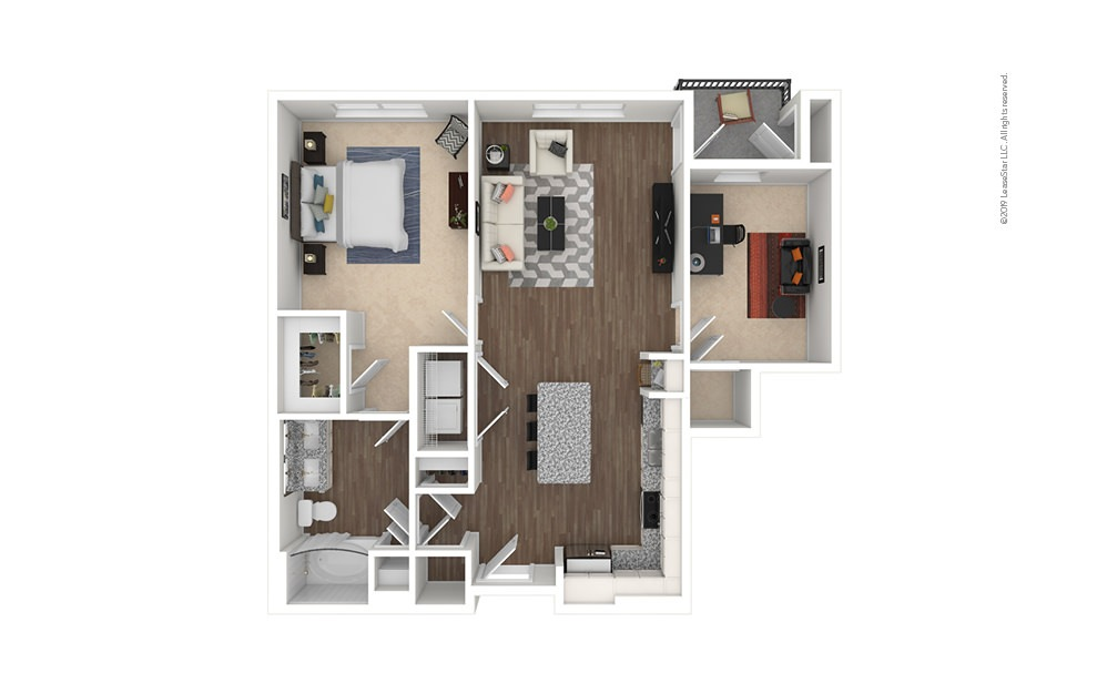 Eagle 1 bedroom 1 bath 921 square feet