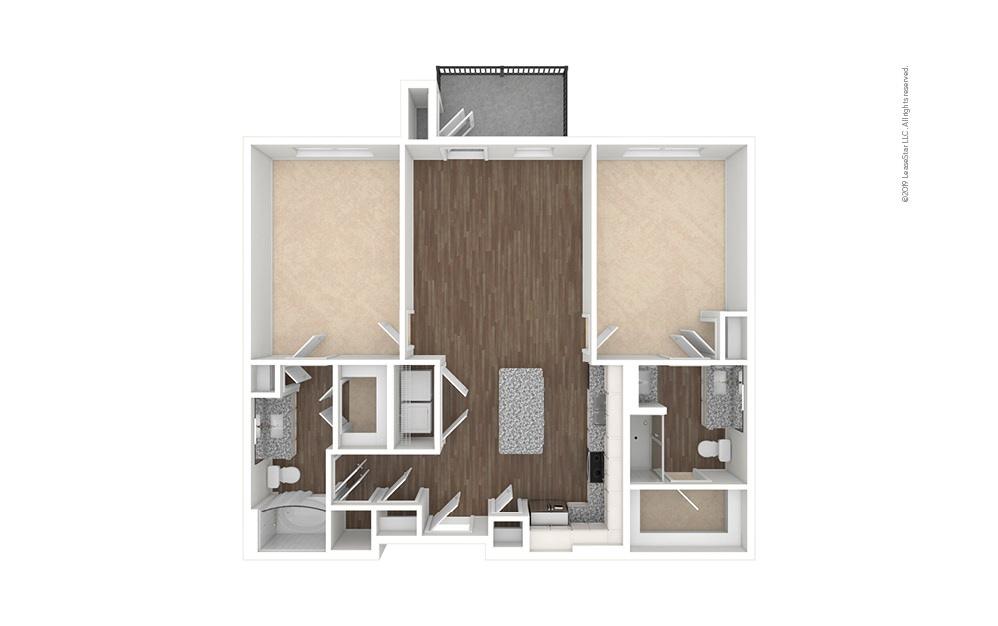 Iron 2 bedroom 2 bath 1159 square feet (1)