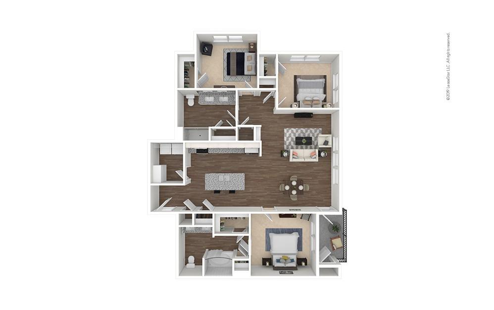 Tee 3 bedroom 2 bath 1462 square feet