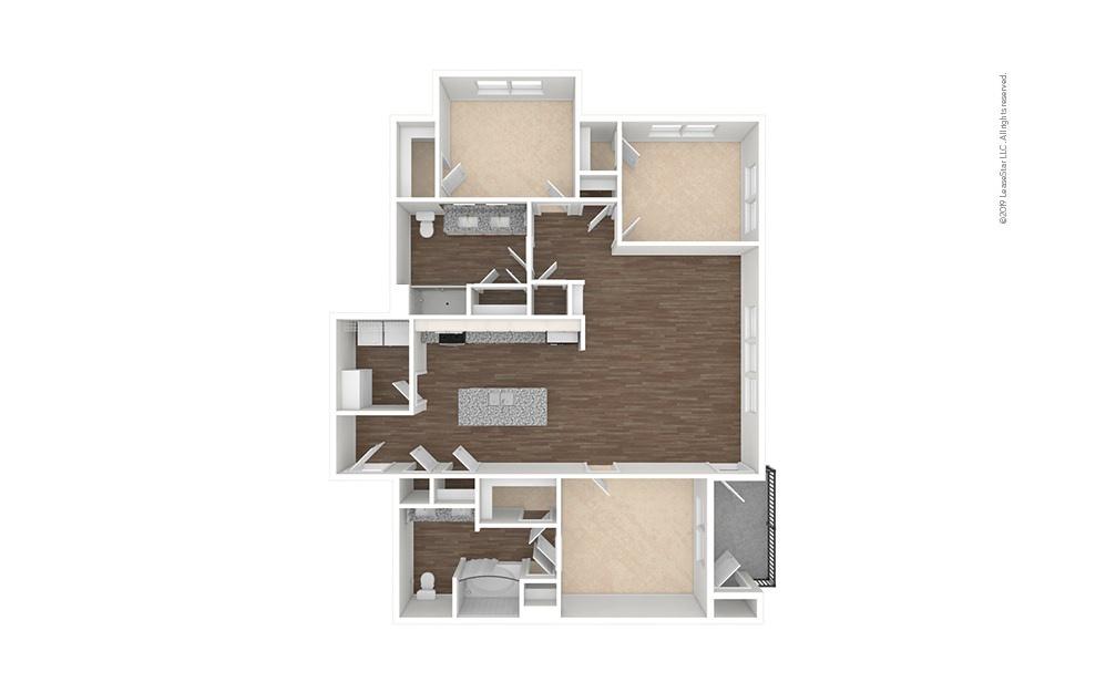 Tee 3 bedroom 2 bath 1462 square feet (1)