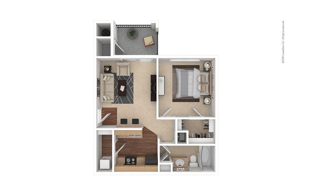 A1 1 bedroom 1 bath 556 square feet