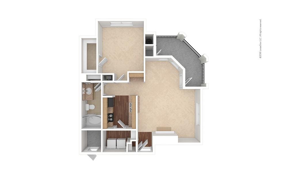 A5 1 bedroom 1 bath 813 square feet (1)