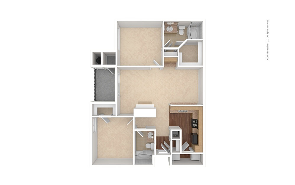 B3 2 bedroom 2 bath 1084 square feet (1)