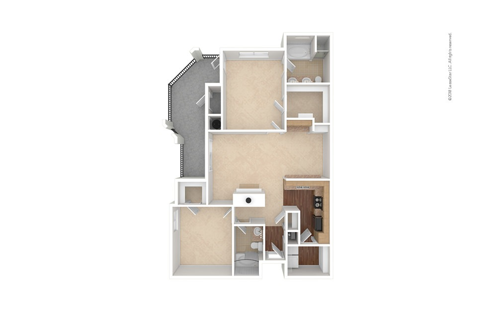 B4 2 bedroom 2 bath 1181 square feet (1)