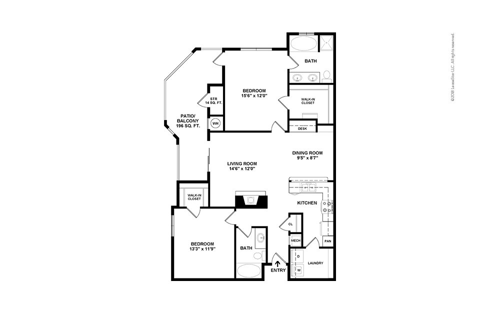 B4 2 bedroom 2 bath 1181 square feet (2)