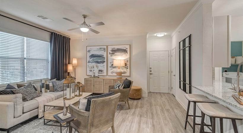 Spacious living room apartments for rent South Austin, TX