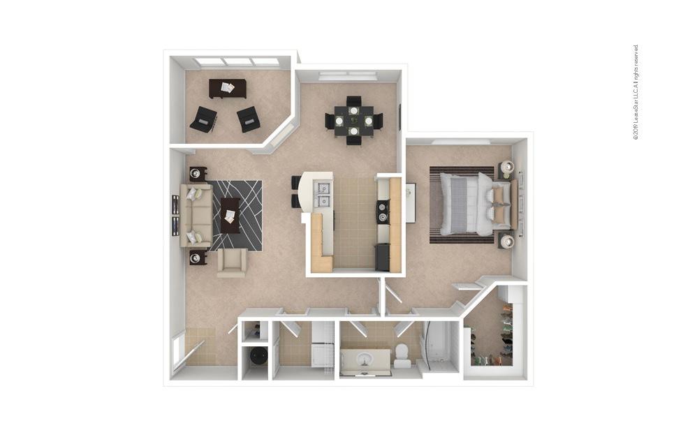 Daisy 1 bedroom 1 bath 955 square feet