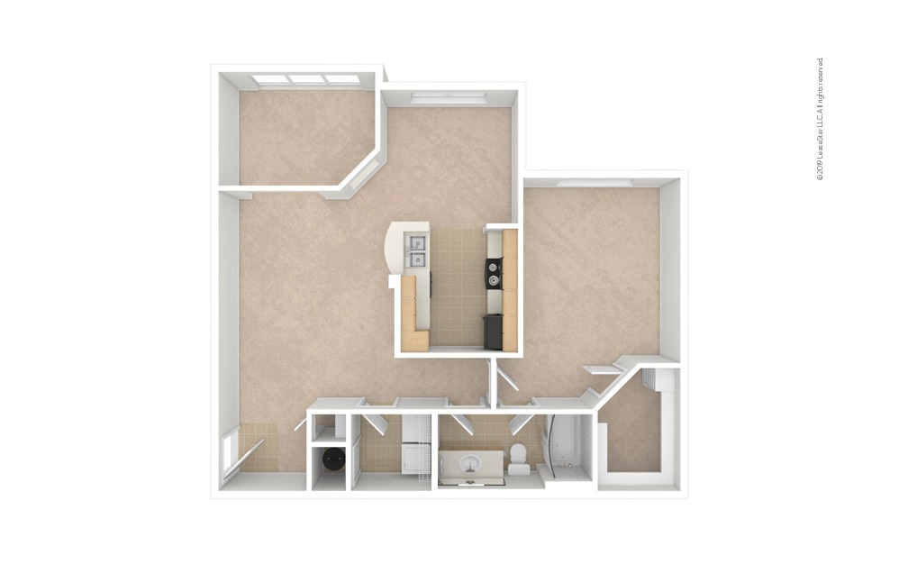 Daisy 1 bedroom 1 bath 955 square feet (1)