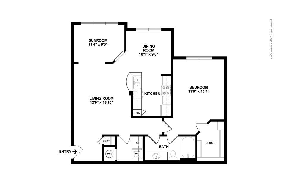 Daisy 1 bedroom 1 bath 955 square feet (2)