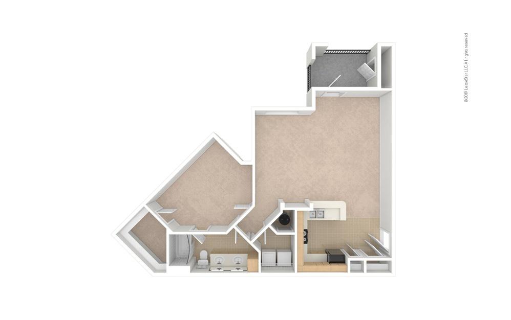 Dandelion 1 bedroom 1 bath 969 square feet (1)